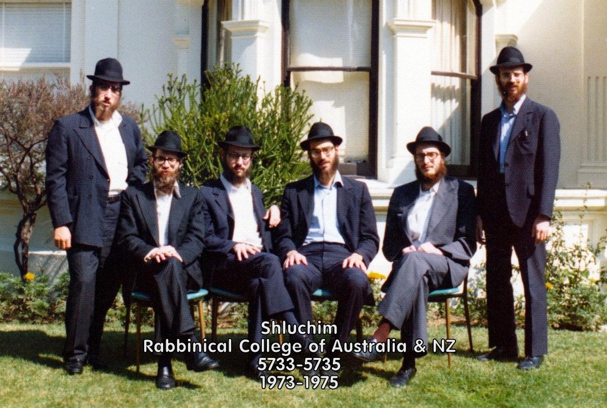 Shluchim - Rabbinical College of Australia & NZ - 5733