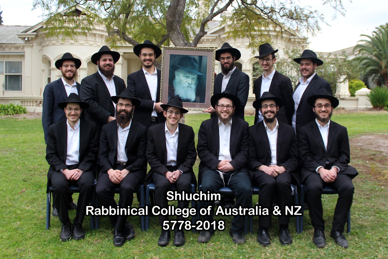 Shluchim - Rabbinical College of Australia & NZ - 5778