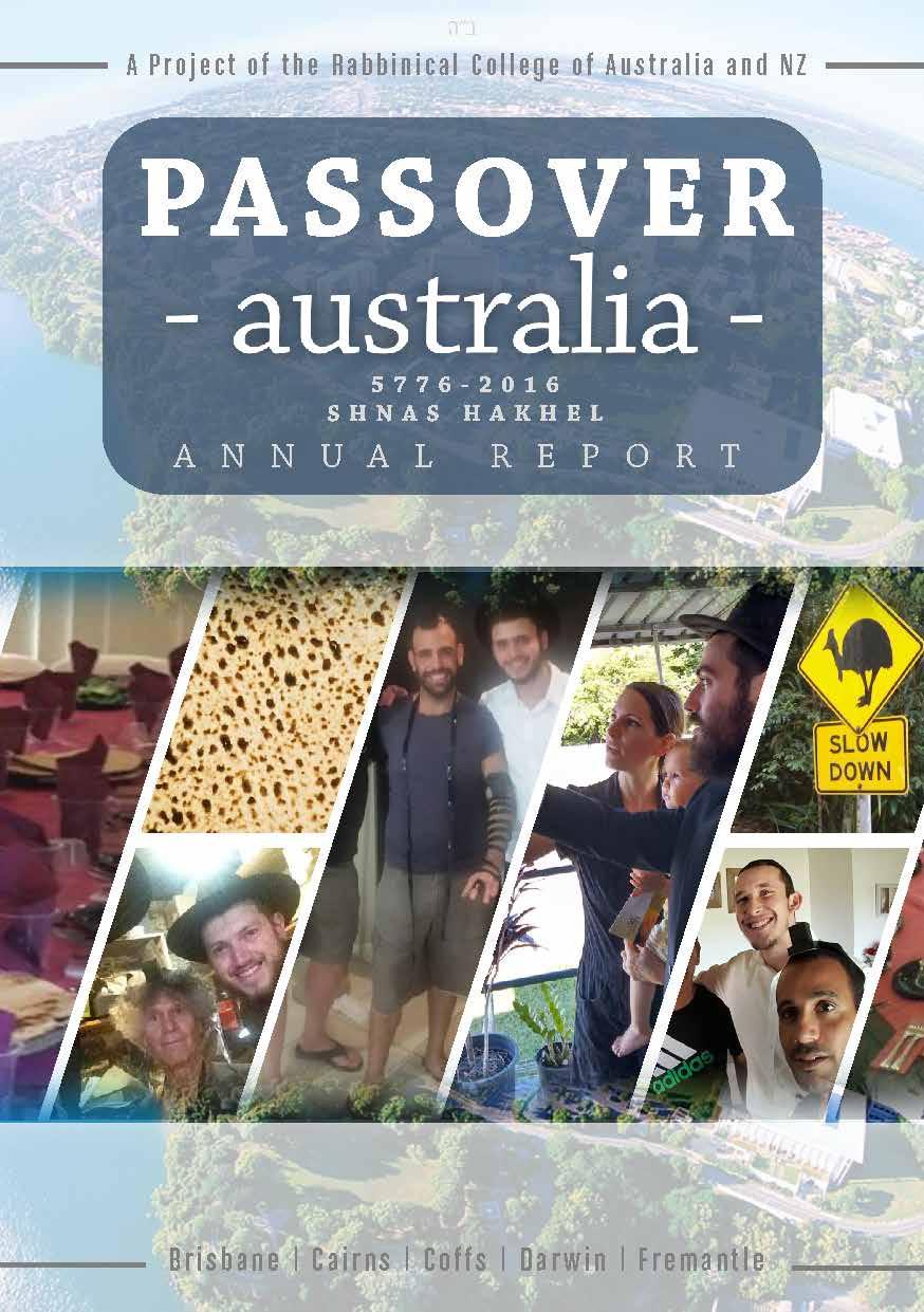 Passover Australia Report 5776 - 2016